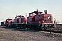 """Henschel 30098 - DB """"261 809-8"""" 09.04.1976 - Gelsenkirchen-Bismarck, BahnbetriebswerkMichael Hafenrichter"""
