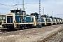 """MaK 600201 - DB """"261 443-6"""" 04.04.1985 - München, Bahnbetriebswerk 1Klaus J. Ratzinger"""