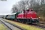 """MaK 600243 - TrainLog """"261 654-8"""" 12.01.2019 - SchwarzerdenReiner Kunz"""