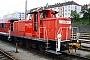 """MaK 600267 - DB Schenker """"363 678-4 """" 17.07.2009 - Passau, HauptbahnhofKai Nordmann"""