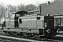 """MaK 800165 - BE """"D 21"""" 04.02.1989 - Bentheim, Bahnhof Bentheim NordKlaus Görs"""